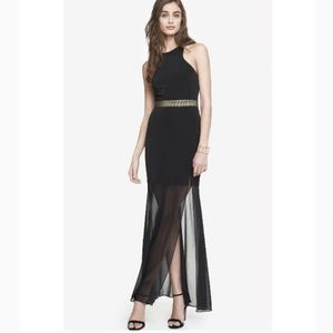 Express Black & Gold Gown